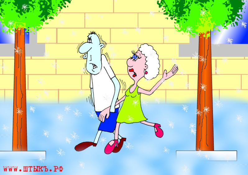 Очень веселые анекдоты с прикольными картинками про погоду