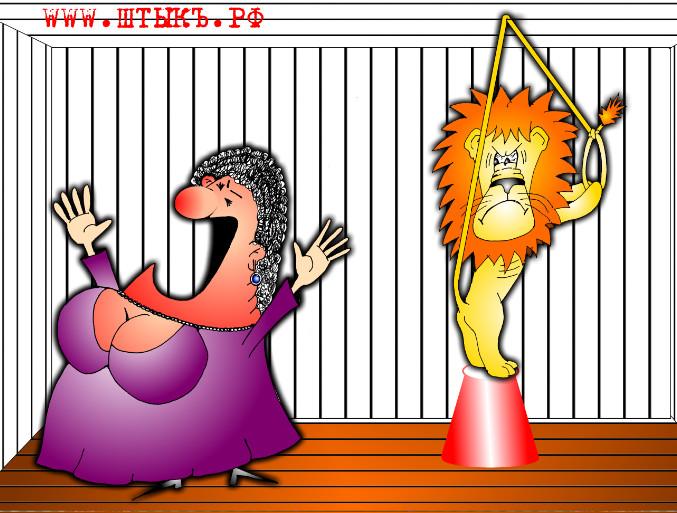 Самые веселые анекдоты с прикольными картинками читать: Дама и лев