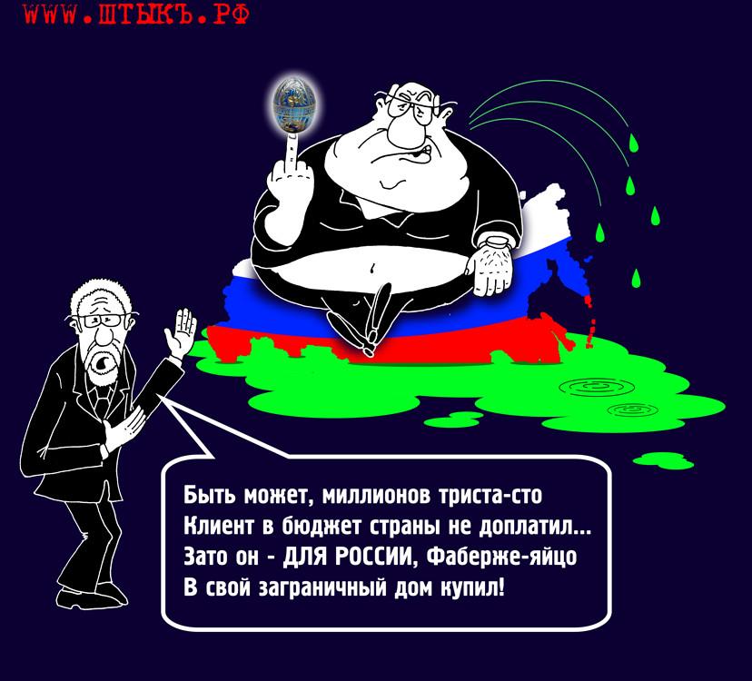 Сатира в карикатурах на злобу дня про Фаберже