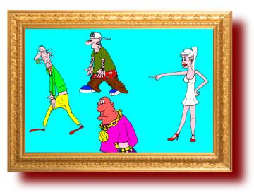 крылатые выражения в картинках и карикатурах про клоунов