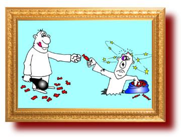 выражение с карикатурой: Борьба со злом