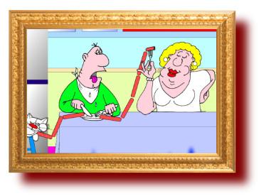 Анекдот с веселым рисунком про диету и голод