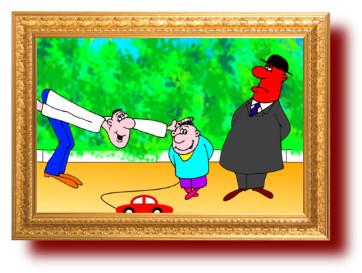 Смешной анекдот с карикатурой: Ребенок