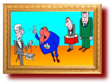 анекдот в карикатурах про партию барабанщика