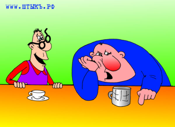 Веселые истории, анекдоты в карикатурах: Очкарик и Человек-паук