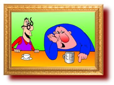 анекдоты в карикатурах: Очкарик и Человек-паук