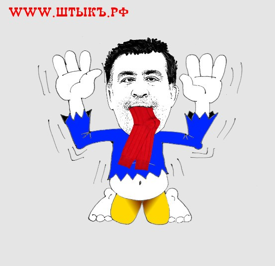 Саакашвили ест носки карикатура