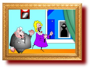 Прикольный анекдот с веселой картинкой: бессовестные соседи