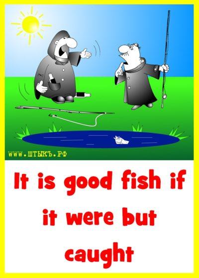 Была бы хороша рыбка, коль поймали бы