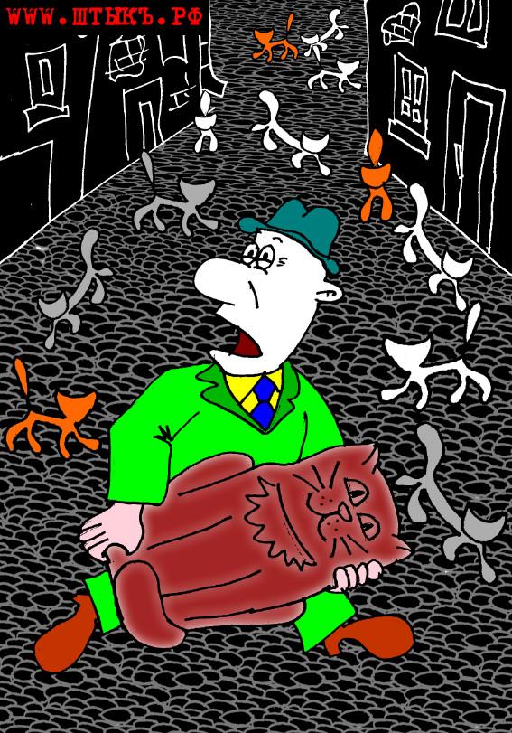 Карикатура к анекдоту про единороссов