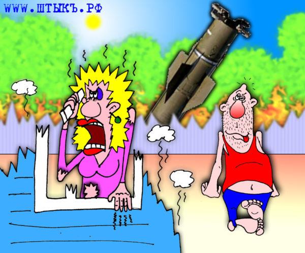 Прикольные карикатуры: Ракета в сарай!