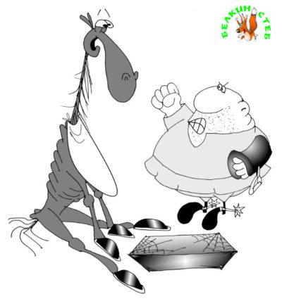 Карикатура- загадка про коня