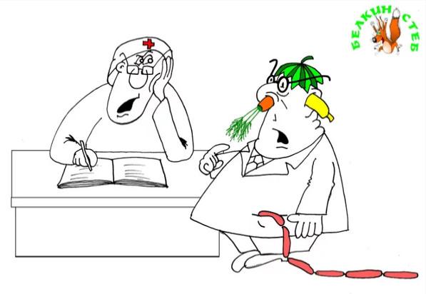 Банан в ухе. Карикатура