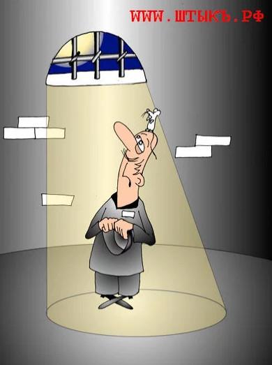 Меры воздействия на «партизан». Карикатура