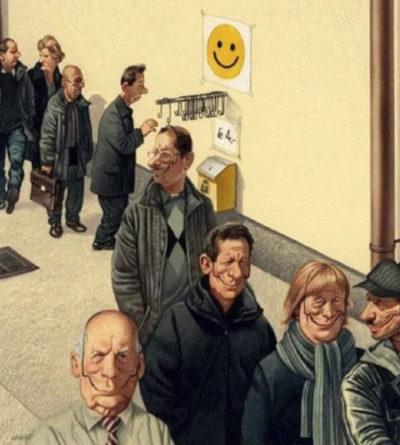 Карикатура австрийского художника Герхарда Хадерера