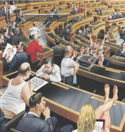 Карикатура Герхарда Хадерера