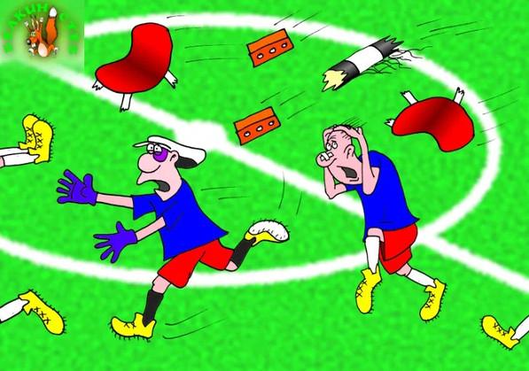 Сборная по футболу. Карикатура