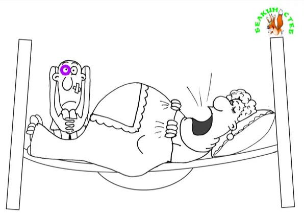 Анекдот про мужскую силу. Карикатура