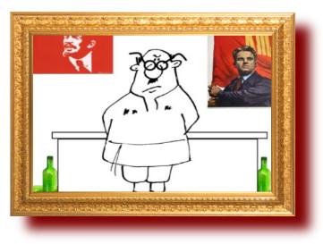 Советский анекдот про пьяницу и парторга. Миниатюра