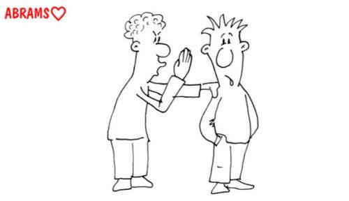Помощь друга. Карикатура