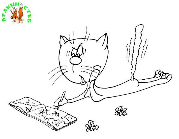 Анекдот про задачу и кошек. Карикатура