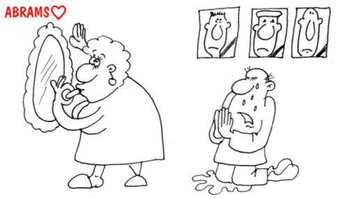 Красивая вдова. Карикатура