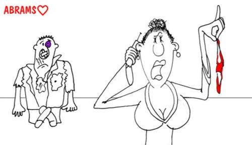 Любовница звонит жене. Карикатура