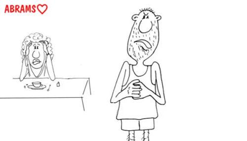 Муж психолога. Карикатура