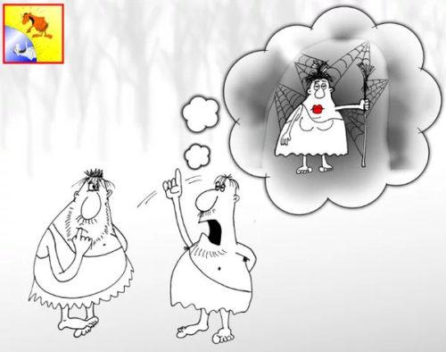 Анекдот про неряху. Карикатура