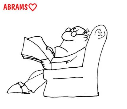 Папа страшилки. Карикатура