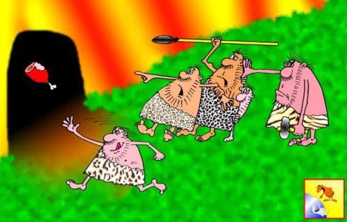 Анекдот про пещеру. Карикатура