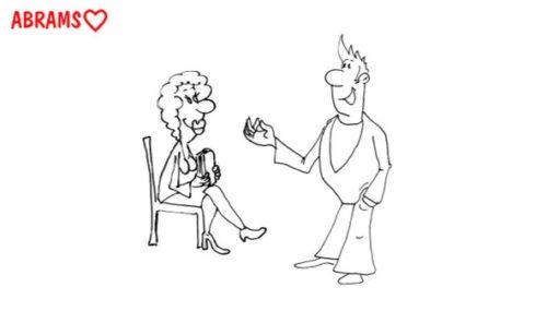 Знакомства в больнице. Карикатура