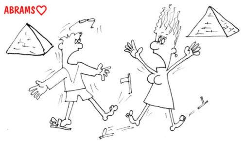 Встреча через неделю. Карикатура