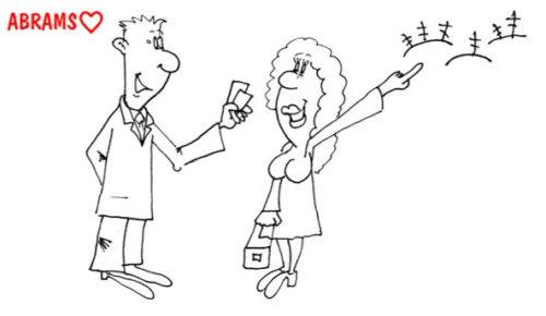 Знакомство с девушкой. Карикатура