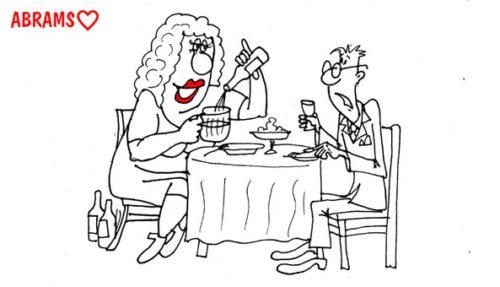 Кто водку глушит из пивных. Карикатура
