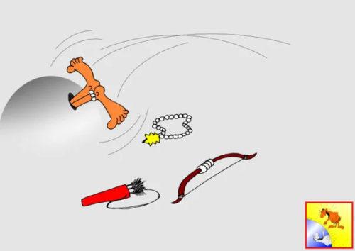 Карикатура. Анекдот про дикаря и норку