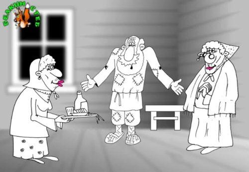 Анекдот про ролевые игры. Карикатура