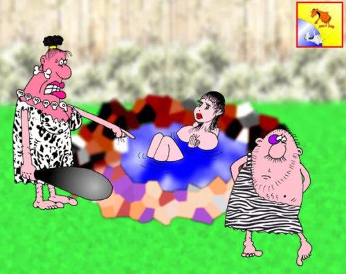 Анекдот: Как дикие жены делали из мужей плезиозавров