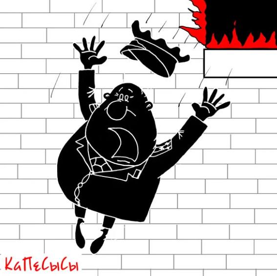 Карикатура к анекдоту как простой народ руковоДятлов спасал