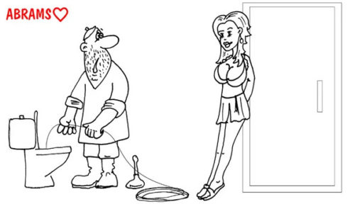 Как развести сантехника. Карикатура