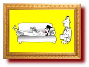 Карикатура. Любящая жена