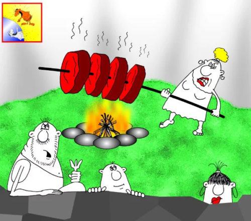 Первобытный анекдот: Лучшее средство для роста рогов