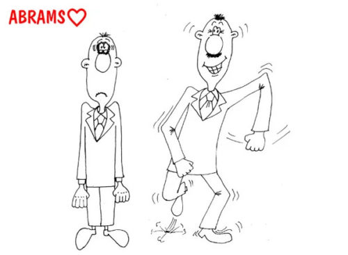 Анекдот про свадьбу и женишка. Карикатура