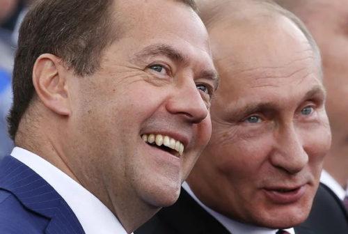 Путин и Медведев. Фото