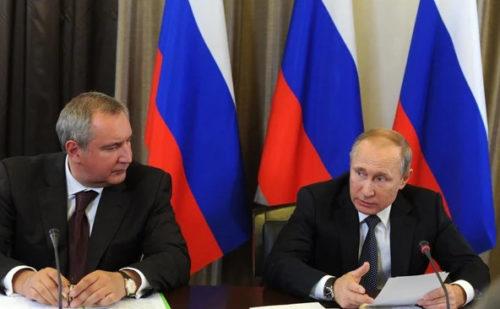 Рогозин и Путин. Фото