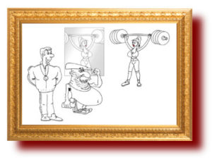 Про спорт в карикатурах и картинках