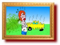 Карикатура. водитель не виноват