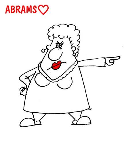 Жена подкаблучника. Карикатура