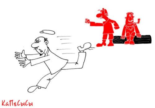 Карикатура. Анекдот про ненадувное бревнышко