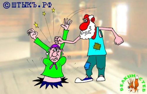 Анекдот-совет: Воскресший дед . Карикатура